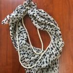 手持ちのパールとスカーフを使ったCITRUS風簡単アレンジ法