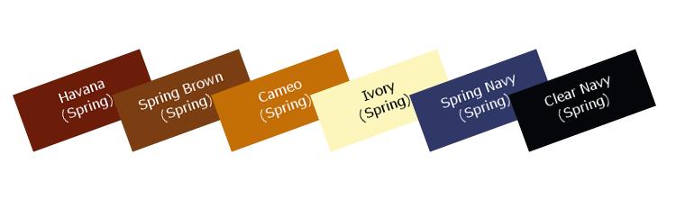 パーソナルカラーセブンシーズンのスプリングベーシックカラー色見本